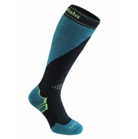 Bridgedale Men's MerinoFusion Ski Mountain Sock in BLACK / GREEN
